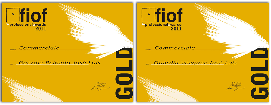 Jose Luis Guardia Vazquez y Jose Luis Guardia Peinado Gold Awards in Orvieto 2011